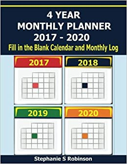 4 year monthly planner 2017 2020 when you need to plan for the