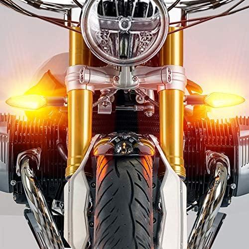Ccautovie Led Blinker Motorrad E Geprüft Universal Led Blinker Tagfahrlicht Motorrad Blinker Motorrad Led Lauflicht Bernstein E4 4 Stück Auto