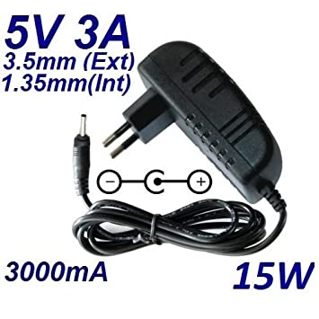 Cargador Corriente 5V 3A 3000mA 3.5mm 1.35mm 15W: Amazon.es ...