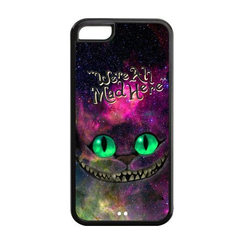 iPhone 5c Case, iPhone 5c cover Case, Alice in Wonderland TPU Fashion Case for iPhone 5c Cover Screen Protector (Alice In Wonderland Guards)