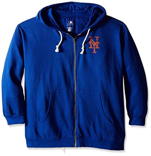 MLB New York Mets Women's Plus Size Zip Hood with Emblem, 3X, Royal – DiZiSports Store