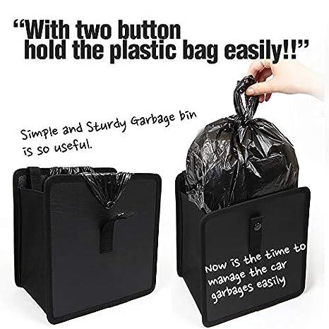 Black Garbage Can CA KMMOTORS Jopps Wastebasket