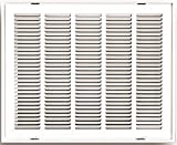 Truaire 190RF 25X20 Stamped Return Air Filter Grille, Removable Face, 25'' X 20'', White, 23'' x 1.75'' x 28''