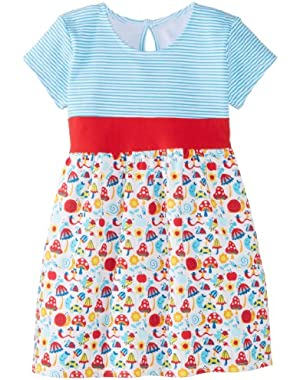 Baby Girls' Happy Day Banded Waist Dress, Cream, 18 Months