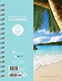 2018 Academic Year Tropical Beaches Medium Weekly Monthly Planner