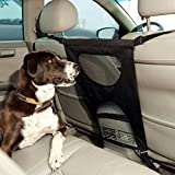 Vehicle Pet Back Seat Barrier, Dog Car Barriers Keep Pet Away From Front Seats, Size fits Car / Truck / SUV (26 * 11.38 in, Black)