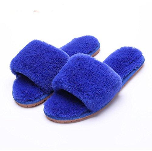 mhgao Ladies Casual Otoño Invierno Felpa Zapatillas de algodón antideslizante caliente zapatillas 1