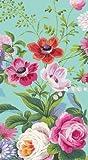 Caspari Guest Towels Paper Hand Towels Bathroom Decor Party Supplies Edwardian Garden Robins Egg Pk 30