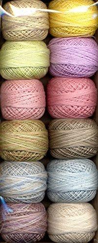 Valdani Size 12 Perle Cotton Embroidery Thread Sugar Candy Collection (PC12-SugarC)