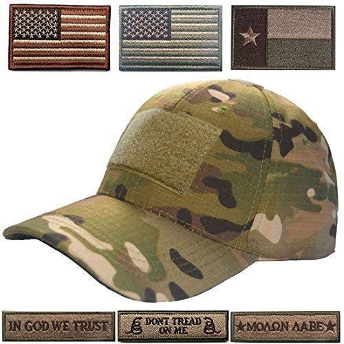 Lightbird Tactical Hat with 6 Pieces Tactical Military Patches ... 8daa3f6588e