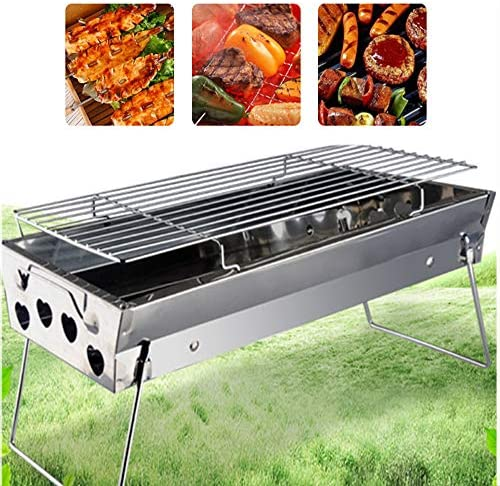 YAJU Barbecue Portatile,Barbecue Portatile Pieghevole Barbecue Set Barbecue Grill Barbecue Bruciatore Forno Barbecue All'aperto Barbecue