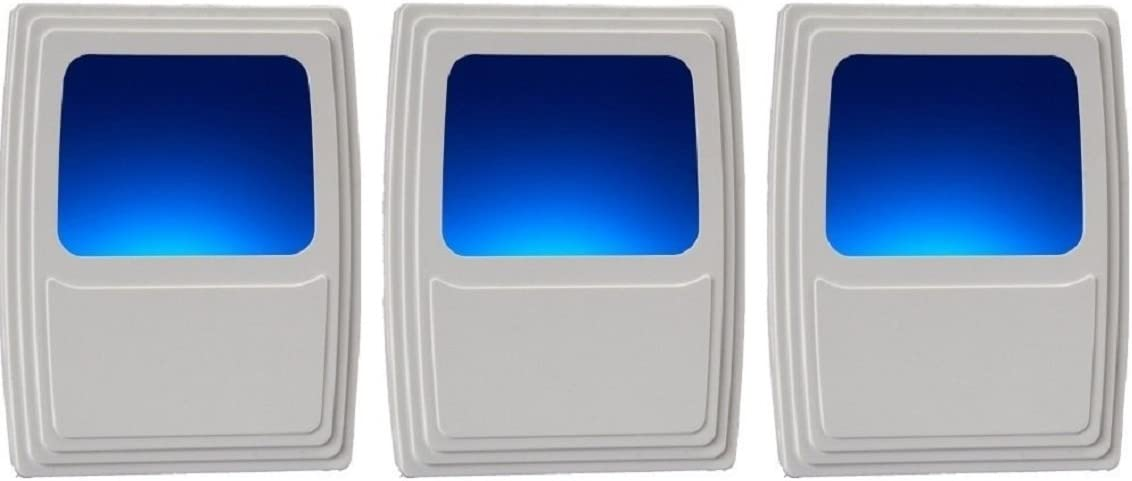 Westek Plug-In Forever-Glo LED Night Light - 3 Pack - Always-On Cool Blue Glow, Energy Efficient - White Finish - Ideal for the Bedroom, Bathroom, Kitchen, Hallway, Stairs or any Dark Room