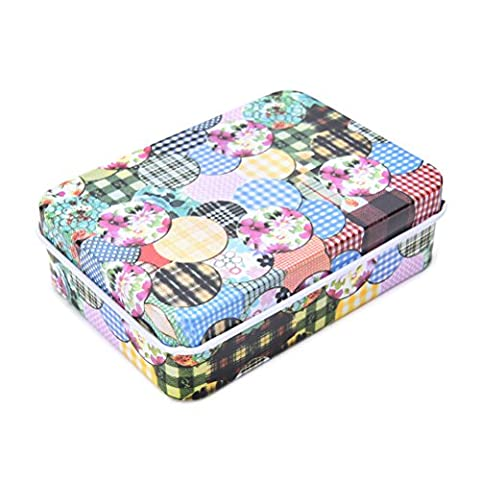 1 Pcs Mini Tin Metal Container Small Rectangle Lovely Storage Box Case Pattern By Team-Management - Mini Tin Case