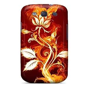 [LRjxmXj7248oAbkO]premium Phone Case For Galaxy S3/ Flaming Rose Tpu Case Cover
