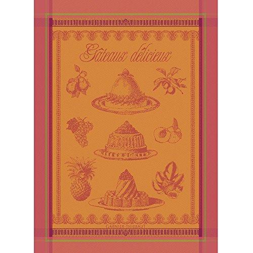 Garnier Thiebaut 24768 100-Percent Cotton Gateaux Delicieux Kitchen Towel, 22 by 30-Inch, Abricot