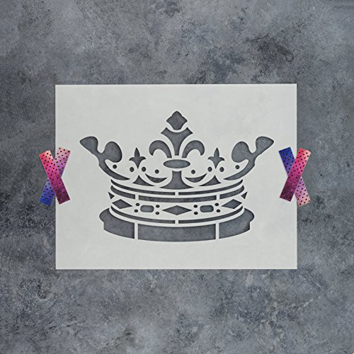King Crown Stencil Template - Reusable Stencil with Multiple Sizes Available (Stencil Crown)