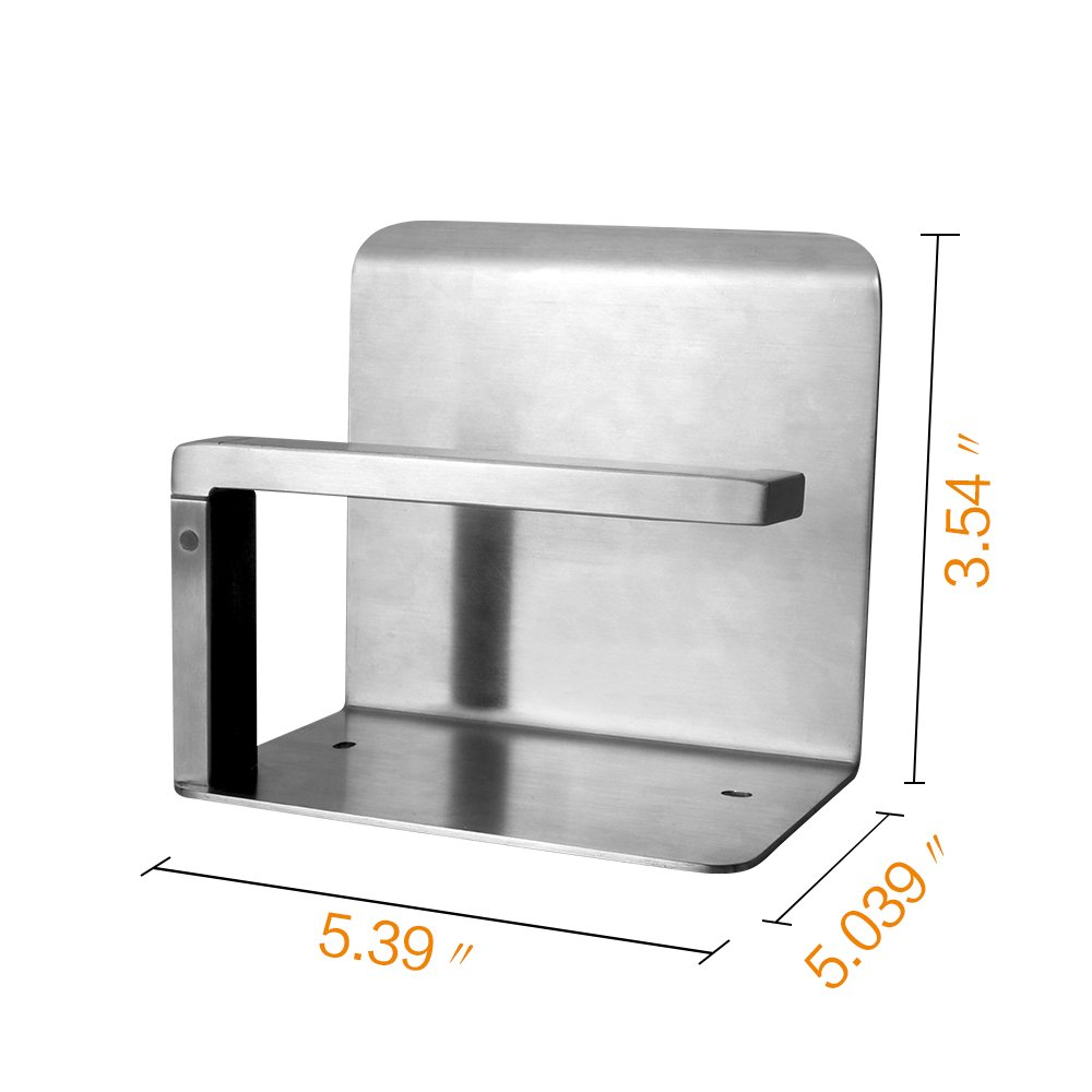 CROWN Toilet Paper Holder with Shelf Stainless Steel Wall Mount Phone Magazine Storage Rack Brushed Nickel 31011