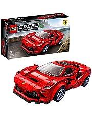 LEGO 76895 Speed Champions Ferrari F8 Tributo, Byggsats med Bilmodell och Minifigur för Barn 7+ år