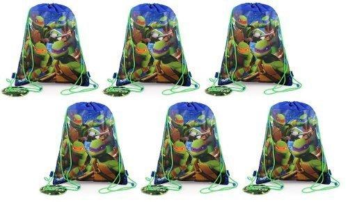 [Teenage Mutant Ninja Turtles Sling Bag X 6] (Nickelodeon Teenage Mutant Ninja Turtles Treat Bags)