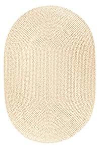Rhody Rug S100R096X096 Solid 8' Round Wool Rug Sand
