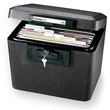 Sentry, Fire-safe Security File, Black Sentrysafe File Features Key Lock for Privacy