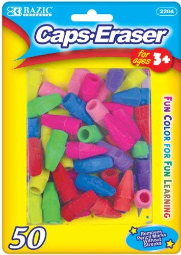 Bazic Neon Eraser Top - 50/Pack 72 pcs SKU# 313366MA by Bazic Products (Image #1)