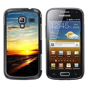 TopCaseStore / la caja del caucho duro de la cubierta de protección de la piel - Sunset Beautiful Nature 111 - Samsung Galaxy Ace 2 I8160 Ace II X S7560M