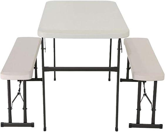 Combinación de silla y mesa plegable de panel blanco de alta ...