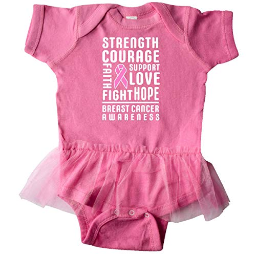 inktastic - Breast Cancer Infant Tutu Bodysuit 12 Months Raspberry ()