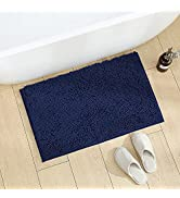 Feivea Chenille Bathroom Rugs Mats Microfibers Extra Thick Fluffy Plush Absorbent Bath Rugs for B...
