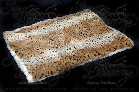 Tiger Dreamz Luxury Bed 24x19, Ocelot - Ocelot Faux Fur