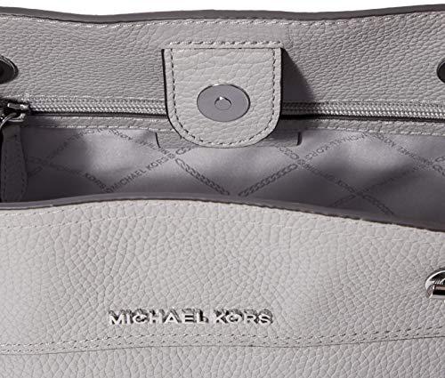 Michael Kors dam jet set chain Legacy axelväska, grå (Pearl Grey), 13 x 25 x 29 cm