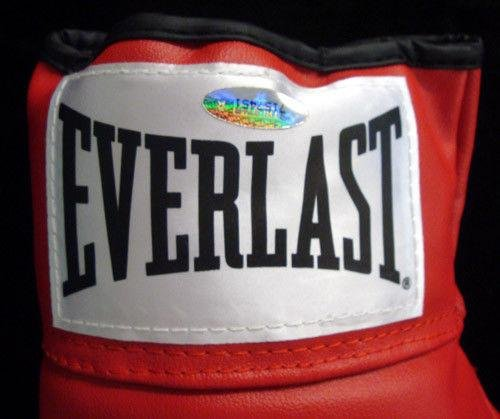 "Mike Tyson Autographed Red Everlast Boxing Glove""kid Dynamite"" Rh 28542 Tristar Productions Certified"
