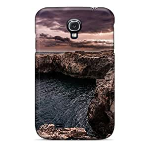AnnetteL Fashion Protective Wondrous Rocky Shore Case Cover For Galaxy S4