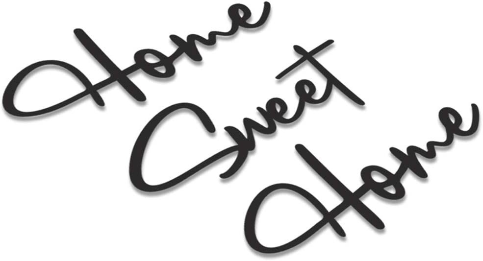 Bold Grup Home Sweet Home - Metal Wall Hanging - Wall Quotes - Metal Wall Art - Metal Motivational Wall Signs - Metal Home Wall Decor for Bedroom, Living Room, Kitchen