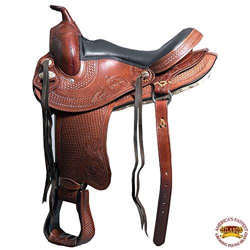 HILASON 16″ GAITED Western Trail Pleasure Endurance Horse Saddle Brown