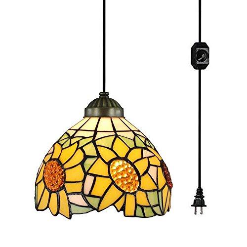 Sunflower Hanging 1-Light Inverted Pendant