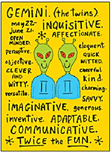 gemini zodiac sign positive traits funny fridge magnet ep