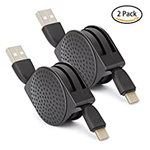 Retractable USB Type C Cable(2 Pack),COOYA USB C to USB 2.0 Fast Charging Hi-Speed Data Transmission for Samsung Galaxy Note 8,S8,S8 Plus,BLU Vivo XL,Honor 8,Google Pixel,Pixel XL,LG G5 G6 and More