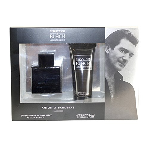After Balm Black Shave (Seduction In Black 2 Pc. Gift Set ( Eau De Toilette Spray 3.4 Oz + Aftershave Balm 3.4 Oz ) for Men)