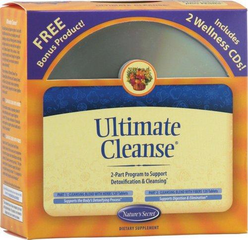 Секрет природы Окончательный очистить 2-Part Программа поддержки Дезинтоксикация & Cleansing таблетки, включает в себя оздоровительный CD (2, 120-Count бутылки)