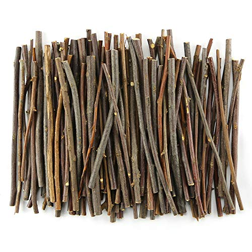 TKOnline 100Pcs 10cm 0.1-0.2 Inch in Diameter Wood Log Sticks for DIY Crafts Photo Props -