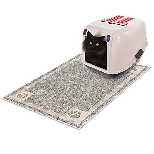 PETMAKER Non Slip Litter and Food Mat for Cats and Dogs- Flo
