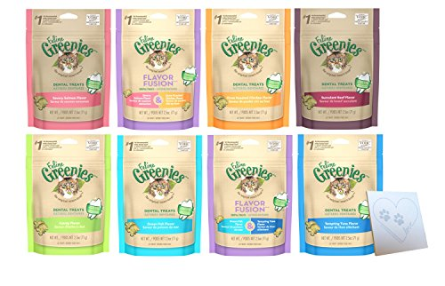 Greenies Dental Cat Treat Variety Pack - 8 Total Flavors: Te
