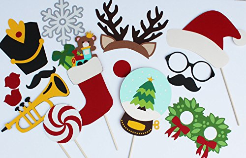 Christmas Photo Booth Props - 15 pc set by Paper & Pancakes -