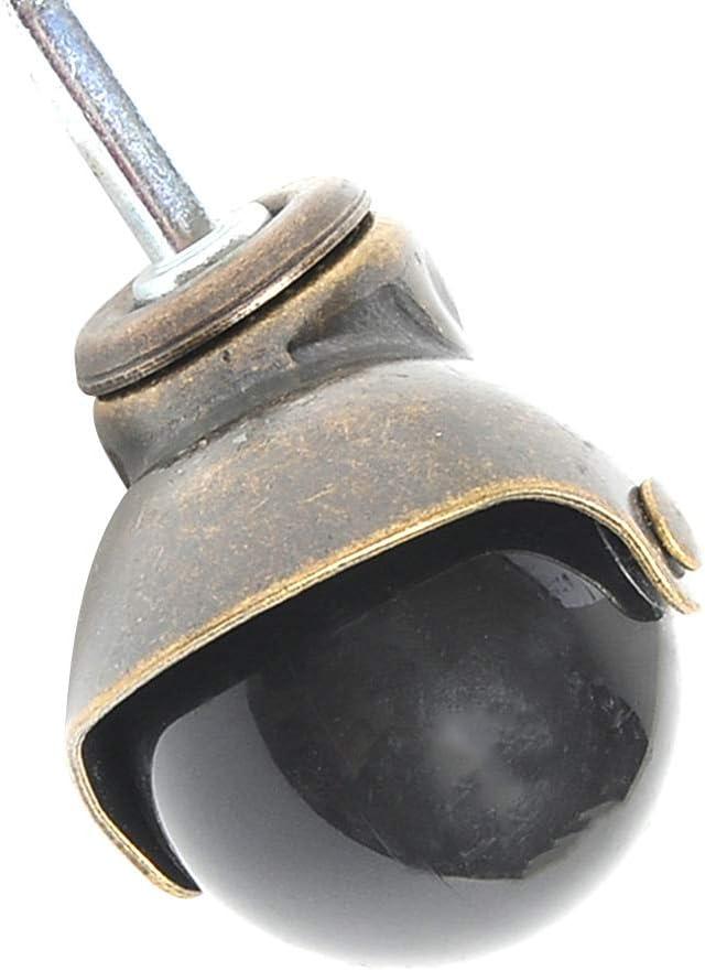 Vintage-Stil 5,1 cm Gesamtgewicht von 330 kg Antik-Messing-Kugellager mit langem Vorbau 5 St/ück drehbare Rollen Youliy Laufrollen-Set
