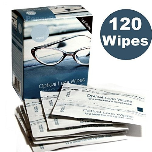 *BULK BUY* ~ 4 BOXES CONTAINING 30 = 120 Optical Lens Smear Free Wipes Spectacle Cleaner, Mobile Phone , Camera , Binoculars , Helmet Visors. by Other