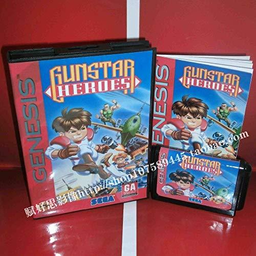 Value★Smart★Toys - Gunstar Heroes with Box and Manual 16bit MD Game Card for Sega Mega Drive /Genesis (Best Mega Drive Games)