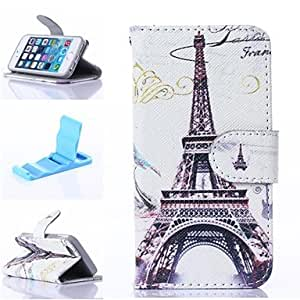 SOL Splendent France Tower Pattern PU Leather Full Body Case with Stand for iPhone 5/5S
