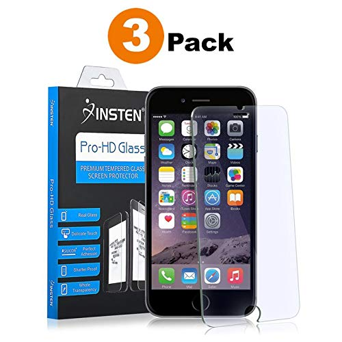Insten Screen Protector Compatible with iPhone 6/ 6S, [3 Packs] Tempered Glass Protector Film Cover Compatible with Apple iPhone 6/ 6S(4.7